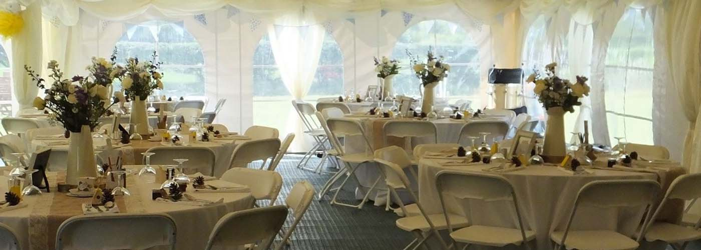 Marquee Tables & Chairs Banner